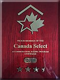 Canada Select 3½ Stars for Cottages